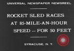 Image of rocket sled Syracuse New York USA, 1931, second 12 stock footage video 65675070926