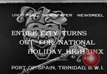 Image of costumed and native dress parade Port of Spain Trinidad, 1932, second 1 stock footage video 65675070935