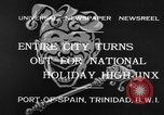Image of costumed and native dress parade Port of Spain Trinidad, 1932, second 3 stock footage video 65675070935