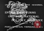 Image of costumed and native dress parade Port of Spain Trinidad, 1932, second 6 stock footage video 65675070935