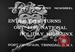 Image of costumed and native dress parade Port of Spain Trinidad, 1932, second 7 stock footage video 65675070935