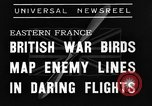 Image of British fliers Eastern France, 1939, second 3 stock footage video 65675070942