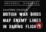 Image of British fliers Eastern France, 1939, second 5 stock footage video 65675070942