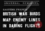 Image of British fliers Eastern France, 1939, second 6 stock footage video 65675070942
