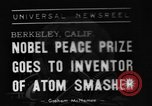 Image of Ernest Orlando Lawrence Berkeley California USA, 1939, second 1 stock footage video 65675070954