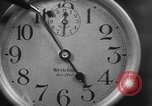 Image of spider in clock Akron Ohio USA, 1932, second 18 stock footage video 65675070961
