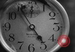 Image of spider in clock Akron Ohio USA, 1932, second 21 stock footage video 65675070961