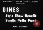 Image of fashion show New York United States USA, 1949, second 1 stock footage video 65675070979