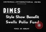Image of fashion show New York United States USA, 1949, second 5 stock footage video 65675070979