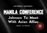 Image of Manila Conference South East Asia, 1966, second 22 stock footage video 65675071044