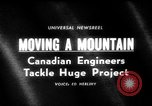 Image of hydro electric project British Columbia Canada, 1965, second 1 stock footage video 65675071049