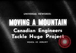 Image of hydro electric project British Columbia Canada, 1965, second 4 stock footage video 65675071049