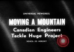 Image of hydro electric project British Columbia Canada, 1965, second 5 stock footage video 65675071049