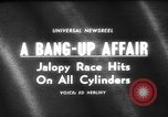Image of jalopies crashed at demolition derby United Kingdom, 1965, second 1 stock footage video 65675071050