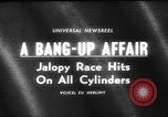 Image of jalopies crashed at demolition derby United Kingdom, 1965, second 5 stock footage video 65675071050