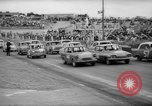 Image of jalopies crashed at demolition derby United Kingdom, 1965, second 10 stock footage video 65675071050