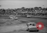 Image of jalopies crashed at demolition derby United Kingdom, 1965, second 23 stock footage video 65675071050