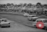 Image of jalopies crashed at demolition derby United Kingdom, 1965, second 27 stock footage video 65675071050