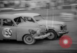 Image of jalopies crashed at demolition derby United Kingdom, 1965, second 31 stock footage video 65675071050