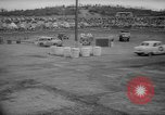Image of jalopies crashed at demolition derby United Kingdom, 1965, second 40 stock footage video 65675071050