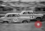 Image of jalopies crashed at demolition derby United Kingdom, 1965, second 52 stock footage video 65675071050