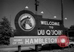 Image of harness racing Du Quoin Illinois USA, 1965, second 7 stock footage video 65675071051
