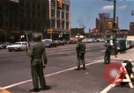 Image of United States soldiers on Guard duty in City Detroit Michigan USA, 1967, second 3 stock footage video 65675071096