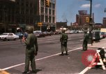 Image of United States soldiers on Guard duty in City Detroit Michigan USA, 1967, second 5 stock footage video 65675071096