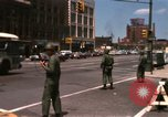 Image of United States soldiers on Guard duty in City Detroit Michigan USA, 1967, second 8 stock footage video 65675071096