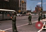 Image of United States soldiers on Guard duty in City Detroit Michigan USA, 1967, second 9 stock footage video 65675071096