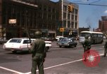 Image of United States soldiers on Guard duty in City Detroit Michigan USA, 1967, second 13 stock footage video 65675071096
