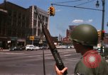 Image of United States soldiers on Guard duty in City Detroit Michigan USA, 1967, second 21 stock footage video 65675071096