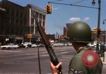 Image of United States soldiers on Guard duty in City Detroit Michigan USA, 1967, second 24 stock footage video 65675071096