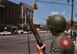 Image of United States soldiers on Guard duty in City Detroit Michigan USA, 1967, second 25 stock footage video 65675071096