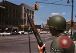 Image of United States soldiers on Guard duty in City Detroit Michigan USA, 1967, second 26 stock footage video 65675071096