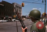 Image of United States soldiers on Guard duty in City Detroit Michigan USA, 1967, second 27 stock footage video 65675071096