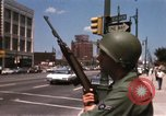 Image of United States soldiers on Guard duty in City Detroit Michigan USA, 1967, second 31 stock footage video 65675071096