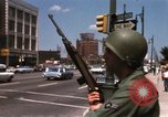 Image of United States soldiers on Guard duty in City Detroit Michigan USA, 1967, second 33 stock footage video 65675071096