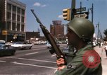Image of United States soldiers on Guard duty in City Detroit Michigan USA, 1967, second 34 stock footage video 65675071096