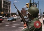 Image of United States soldiers on Guard duty in City Detroit Michigan USA, 1967, second 35 stock footage video 65675071096