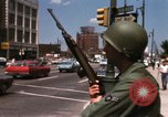 Image of United States soldiers on Guard duty in City Detroit Michigan USA, 1967, second 36 stock footage video 65675071096