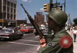 Image of United States soldiers on Guard duty in City Detroit Michigan USA, 1967, second 37 stock footage video 65675071096