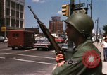 Image of United States soldiers on Guard duty in City Detroit Michigan USA, 1967, second 39 stock footage video 65675071096