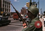 Image of United States soldiers on Guard duty in City Detroit Michigan USA, 1967, second 40 stock footage video 65675071096