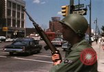 Image of United States soldiers on Guard duty in City Detroit Michigan USA, 1967, second 41 stock footage video 65675071096