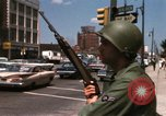 Image of United States soldiers on Guard duty in City Detroit Michigan USA, 1967, second 43 stock footage video 65675071096
