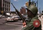 Image of United States soldiers on Guard duty in City Detroit Michigan USA, 1967, second 44 stock footage video 65675071096