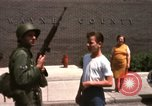 Image of United States soldiers on Guard duty in City Detroit Michigan USA, 1967, second 45 stock footage video 65675071096