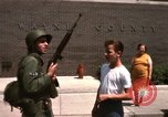 Image of United States soldiers on Guard duty in City Detroit Michigan USA, 1967, second 46 stock footage video 65675071096