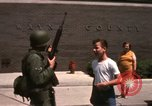 Image of United States soldiers on Guard duty in City Detroit Michigan USA, 1967, second 50 stock footage video 65675071096